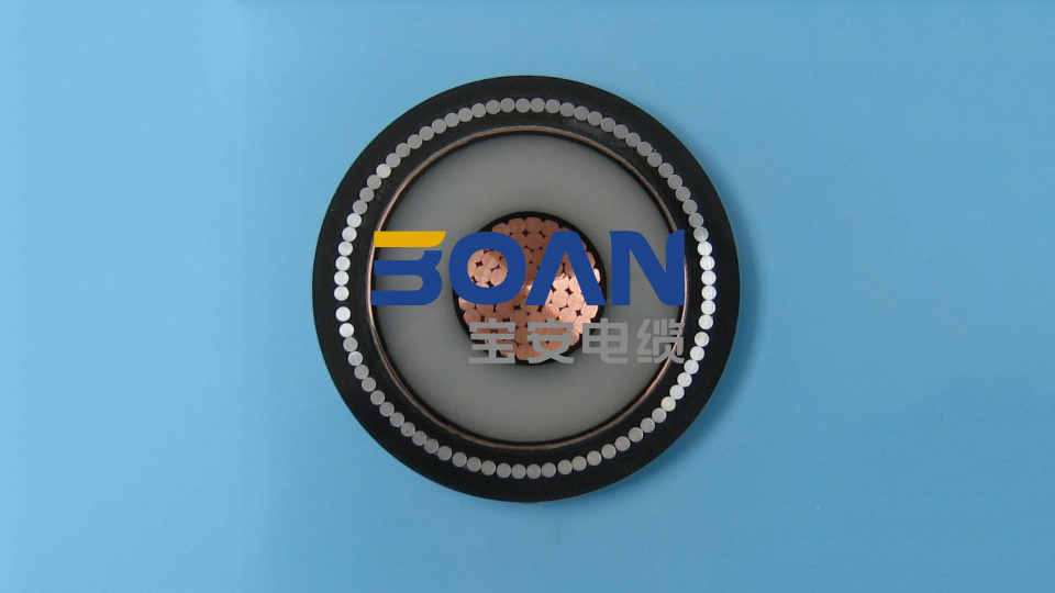 Cu/XLPE/Cts/PVC/Awa/PVC, Power Cable, 6.35/11 Kv, 1/C (BS 6622) pictures & photos