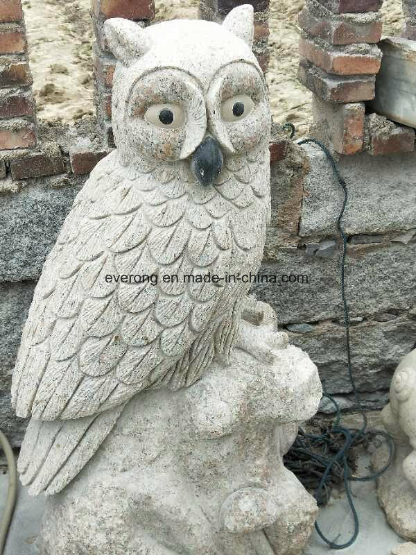 China marble carvings stone owl statue granite owl sculpture for