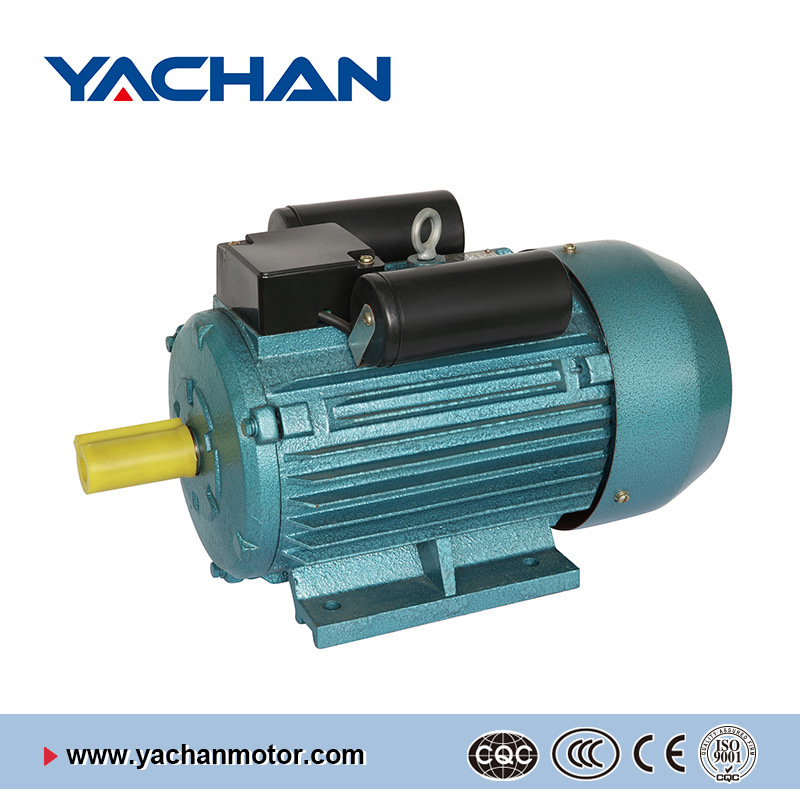 CE Approved Yl Single Phase Green Color Two-Value Capacitor Electric Motor