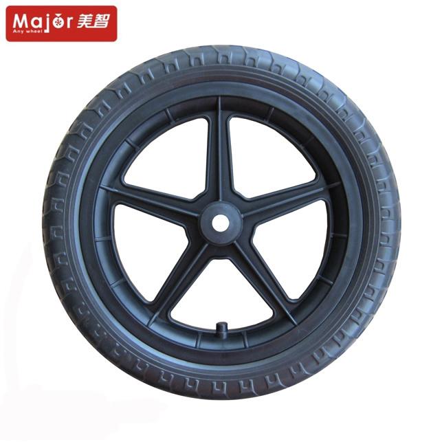 China 12 14 16 Inch Plastic Pu Foam Children Bicycle Rubber Wheels China Pu Foam Wheel 12 Inch Plastic Wheel