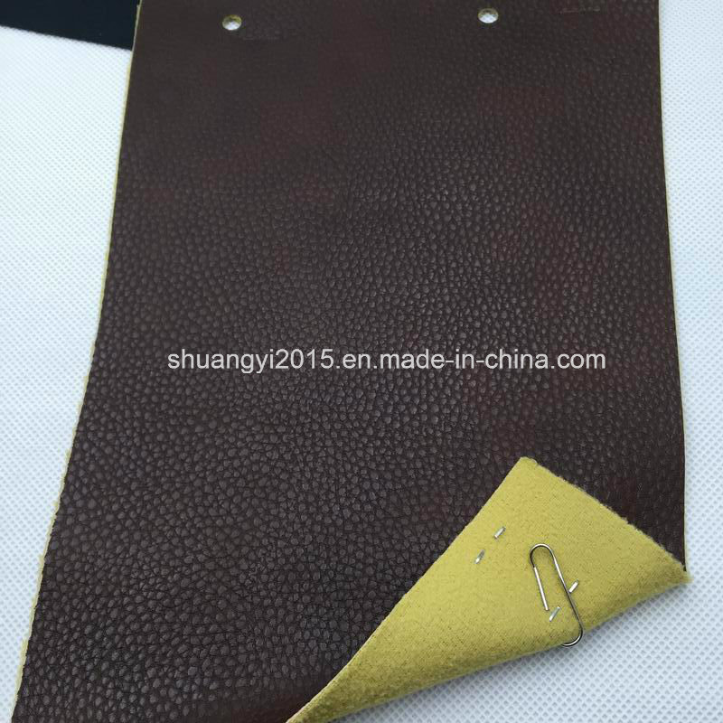 Be099-6184 Two-Tone Classical Lichee Pattern Artificial Leather (PU) for Bags