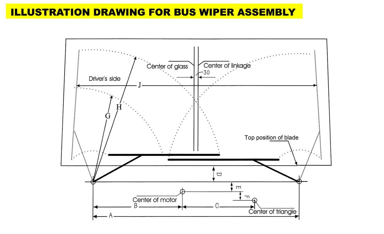 Sensational China Windshield Wiper Assembly For Bus 1880Mm Include Wiper Blade Wiring Cloud Oideiuggs Outletorg