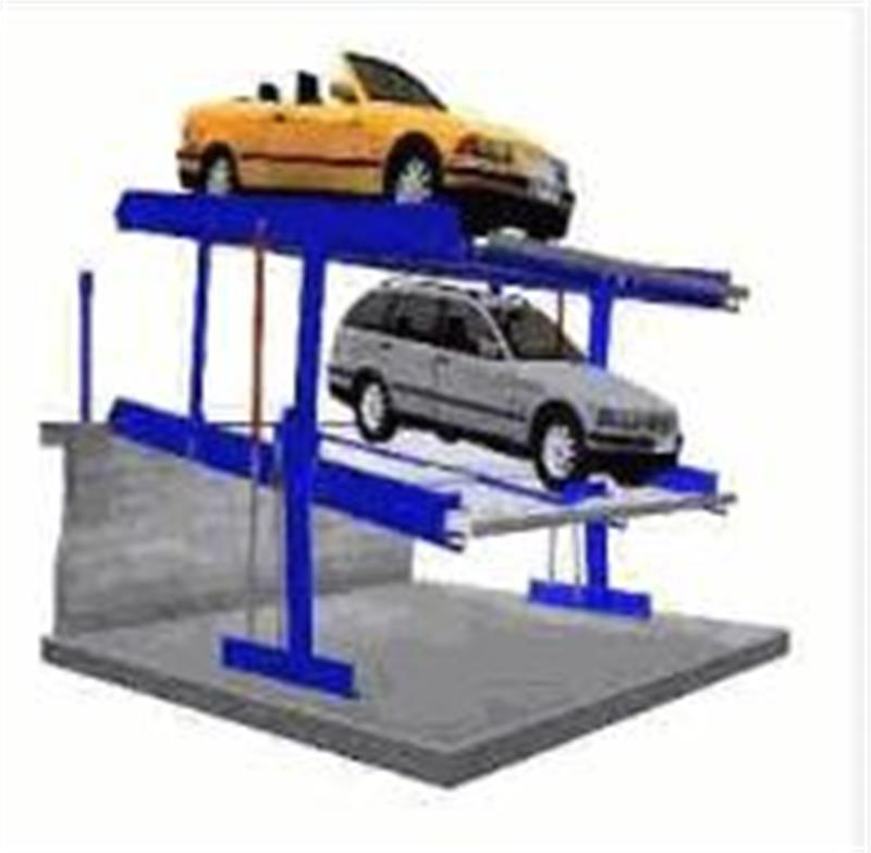 China 2 Level Parking Lift Underground Pit With Incline Car System
