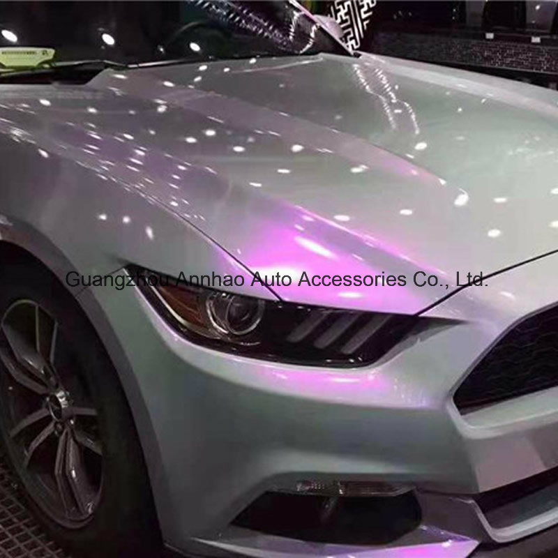 [Hot Item] Glossy Pearl Candy Chameleon Magic Grey Purple Car Wrap Vinyl  Foil