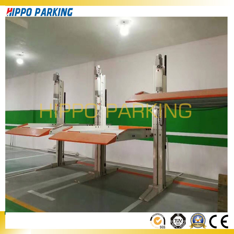 China Auto Parking Lift Price/Low Ceiling Two Post Car Parking ...