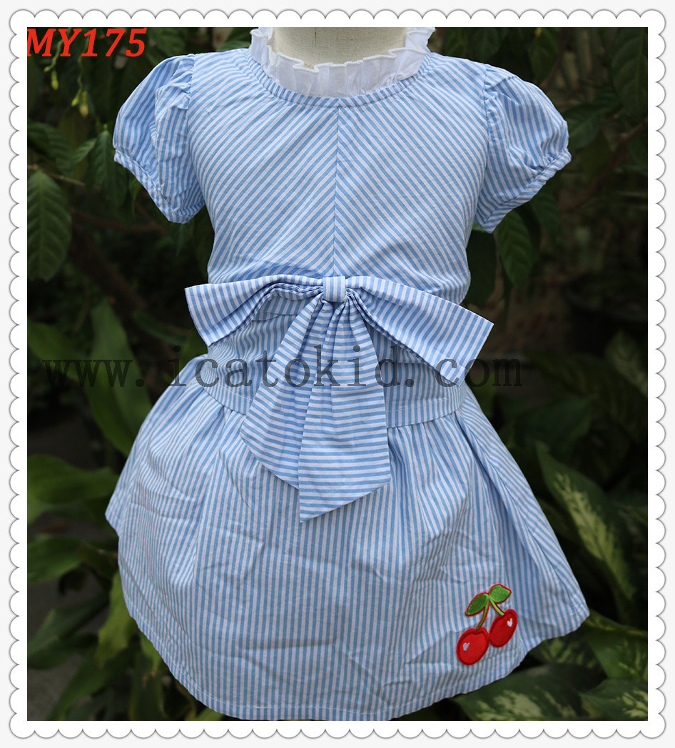 7c011f7ce5084 China Frock Baby Design Children Summer Dress Cotton Skirts with Bow - China  Children Summer Dress, Frock Baby Design