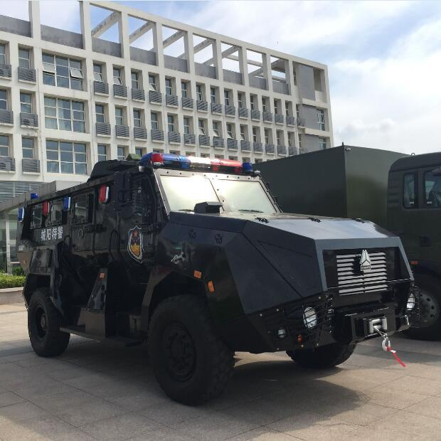 Sinotruk 4X4 Wheeled Armoured Vehicle with Bullet Proof for Police and Army