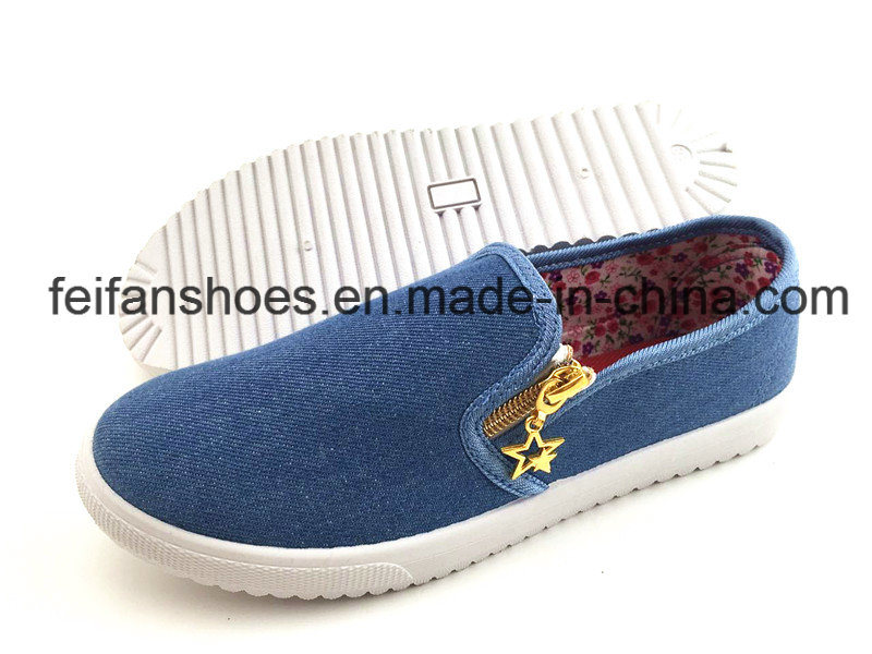 Men′s Injection Canvas Shoes Casual Footwear Shoes (FFZL1230-01) pictures & photos