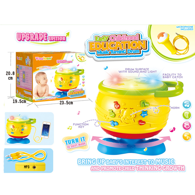 [Hot Item] Plastic Toy Musical Instrument Baby Drum with MP3 (H10883017)