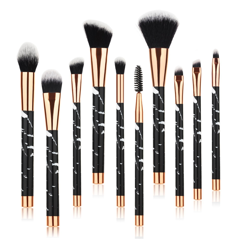 China 10pcs Pro Marble Makeup Brushes