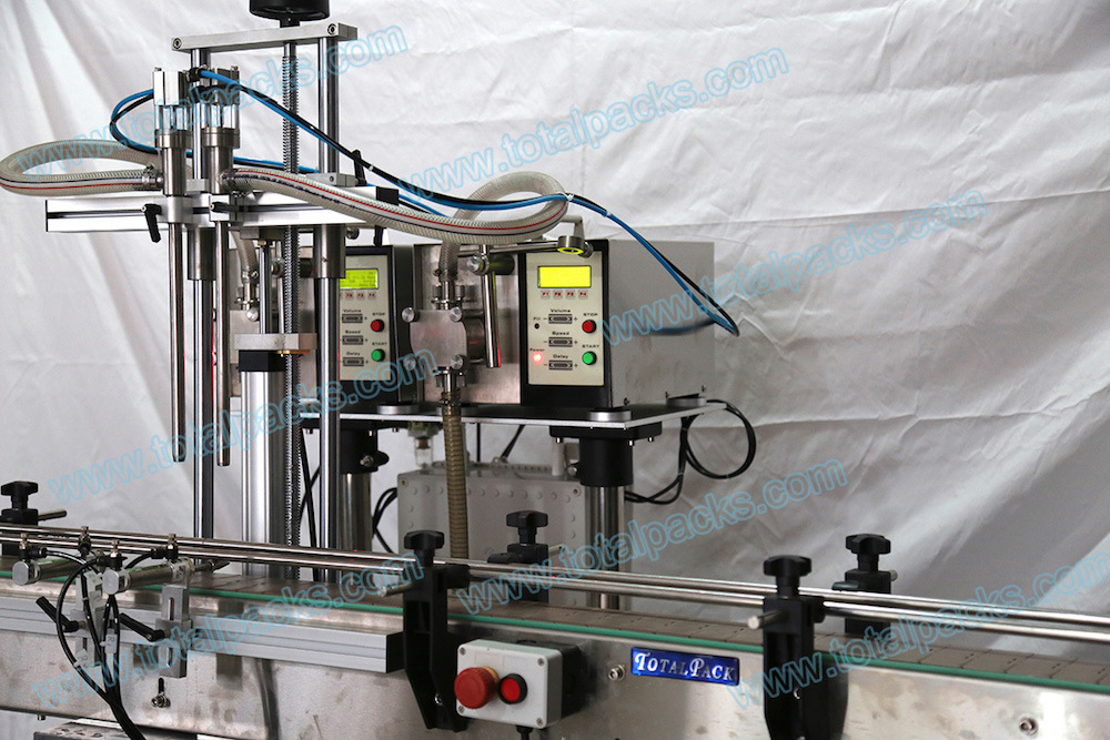Automatic Two Nozzles Gear Pump Bottle Filling Machine (GPF-200A) pictures & photos
