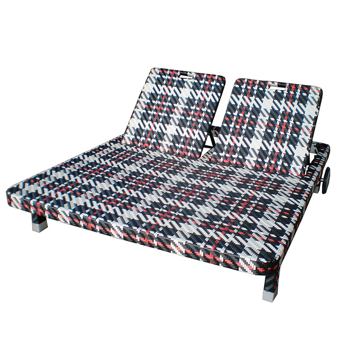 Astounding Hot Item Wicker Rattan Outdoor Garden Furniture Beach Daybed Adjustable Back Love Seat Lounge Chair Gmtry Best Dining Table And Chair Ideas Images Gmtryco