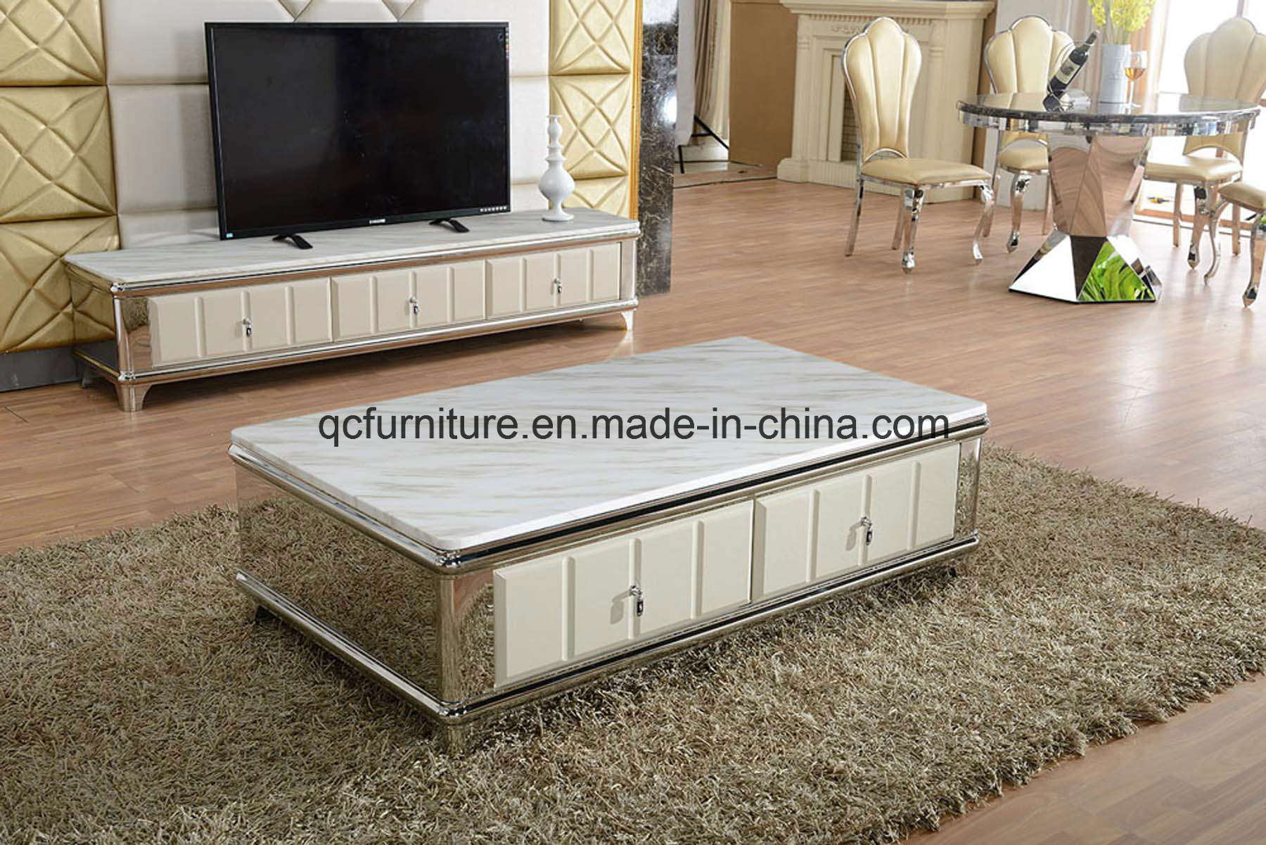China High Gloss Modern Design New Marble Center Table Coffee Table ...