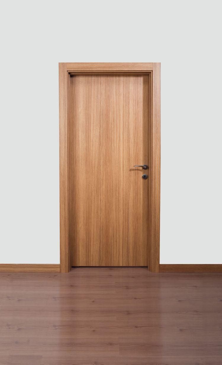 China Veneer Solid Wooden Interior Door With Mdf Coated Hdc 032