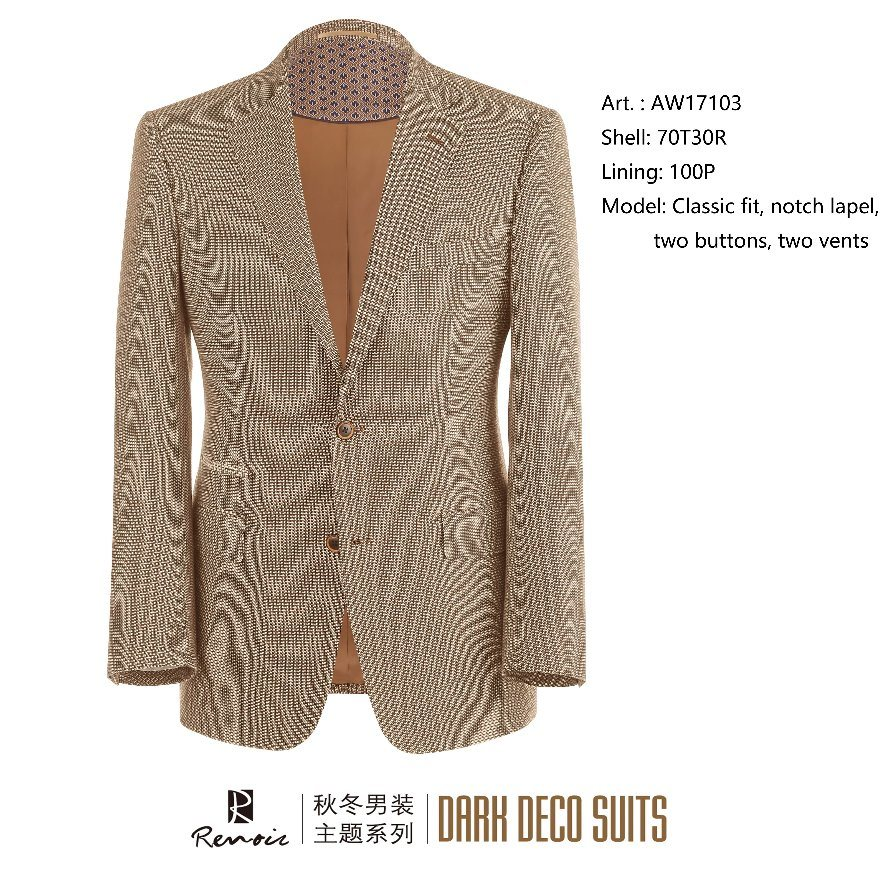 OEM Classic Fit Two Buttons Men′s Blazer pictures & photos