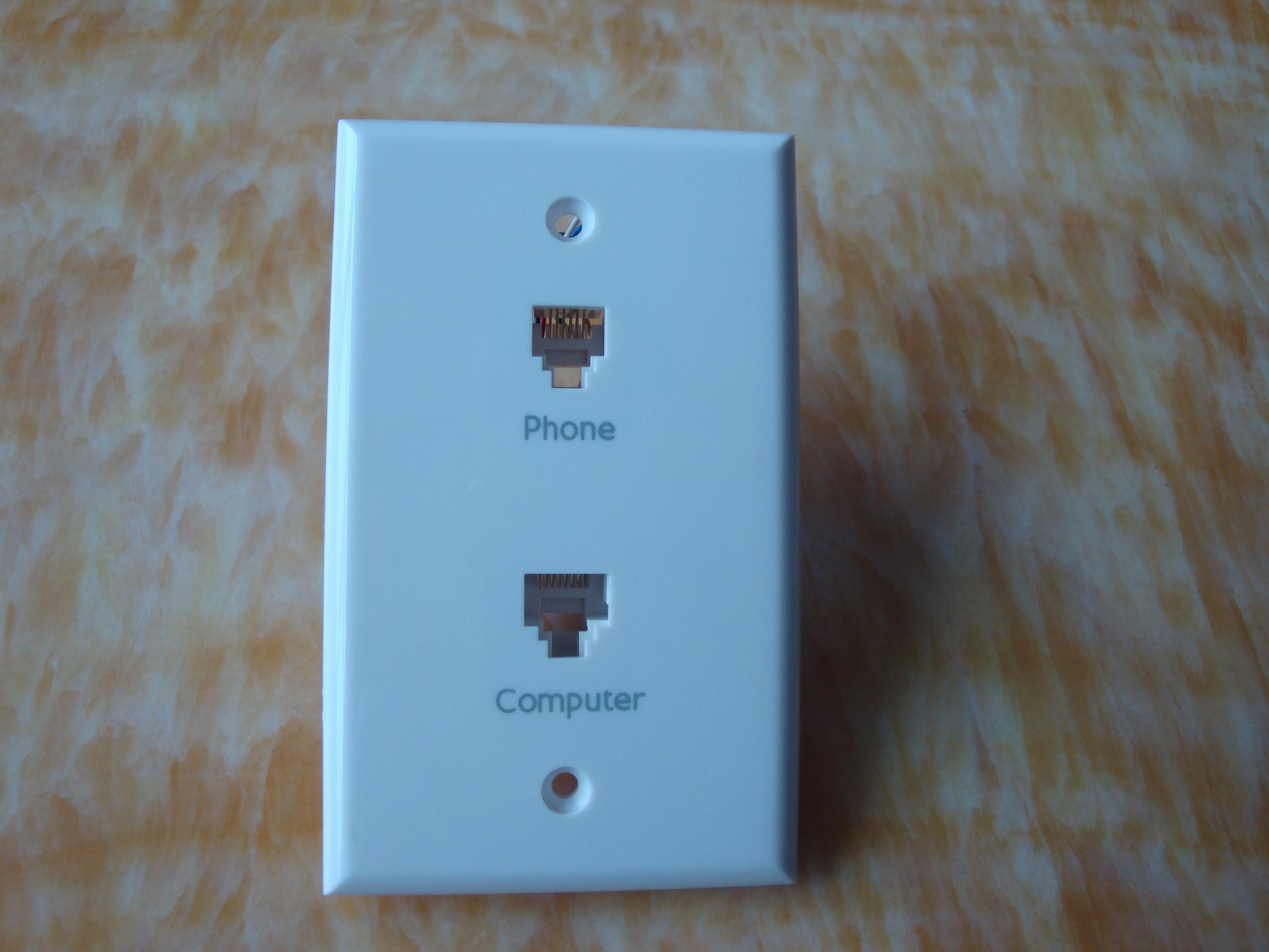 China Rj45 And Phone Wall Jack  Zt-wall Plate-010