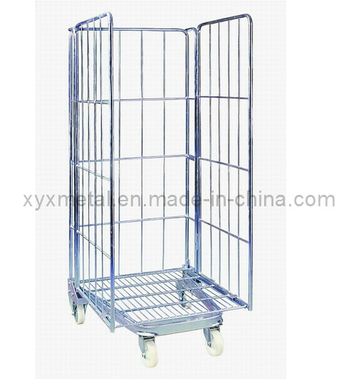 China 3-Sides Storage Folding Metal Wire Mesh Gabion Roll Cage ...