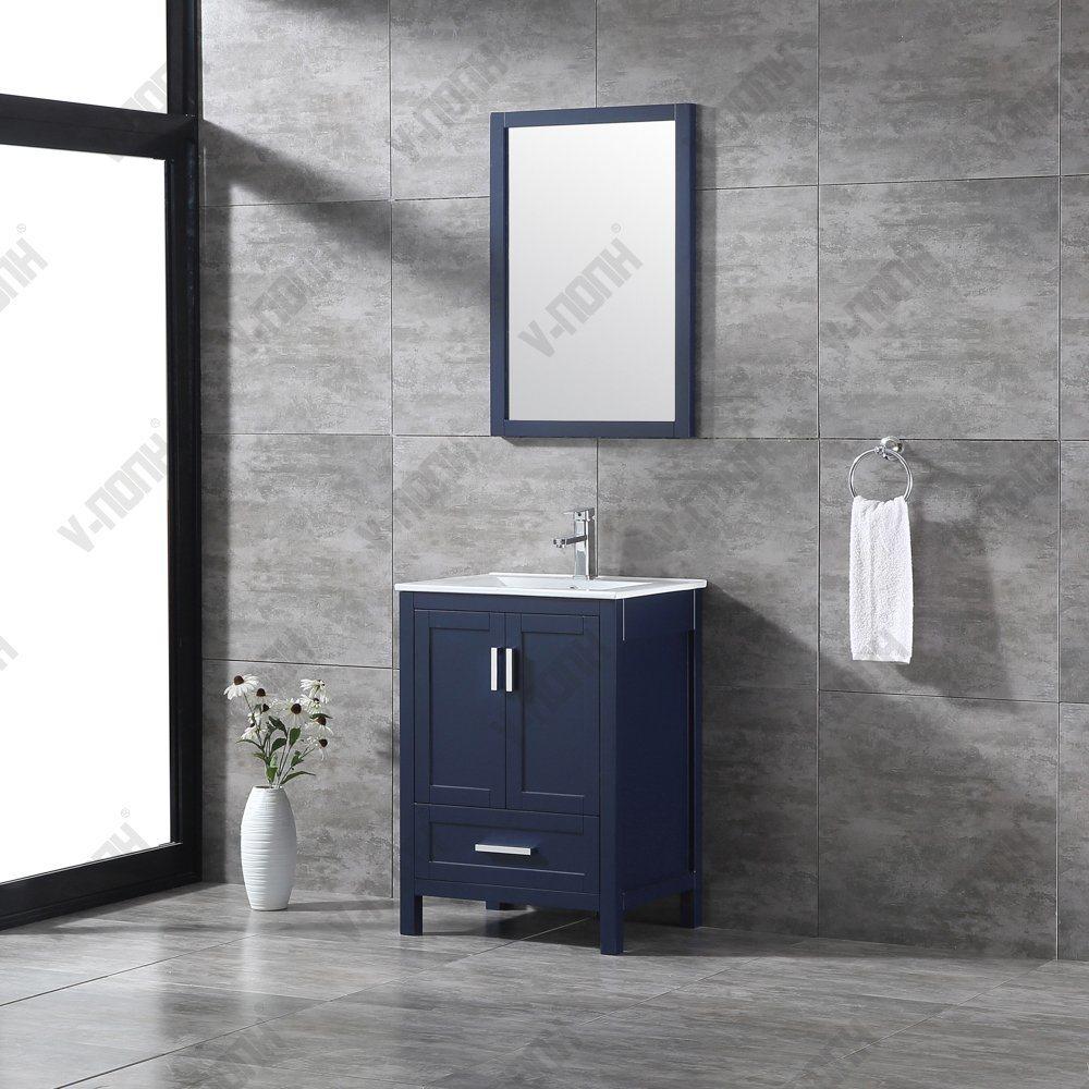 China Navy Blue 24inch Small Bathroom Vanity China Large Storage Hangzhou