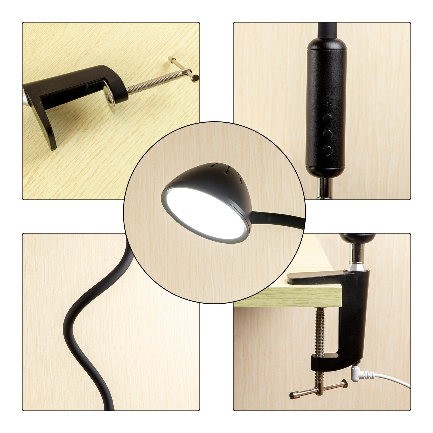 Image of: China Clip Desk Lamp Modern Metal Swing Arm Dimmable Drafting Table Lamp With Clamp Photos Pictures Made In China Com