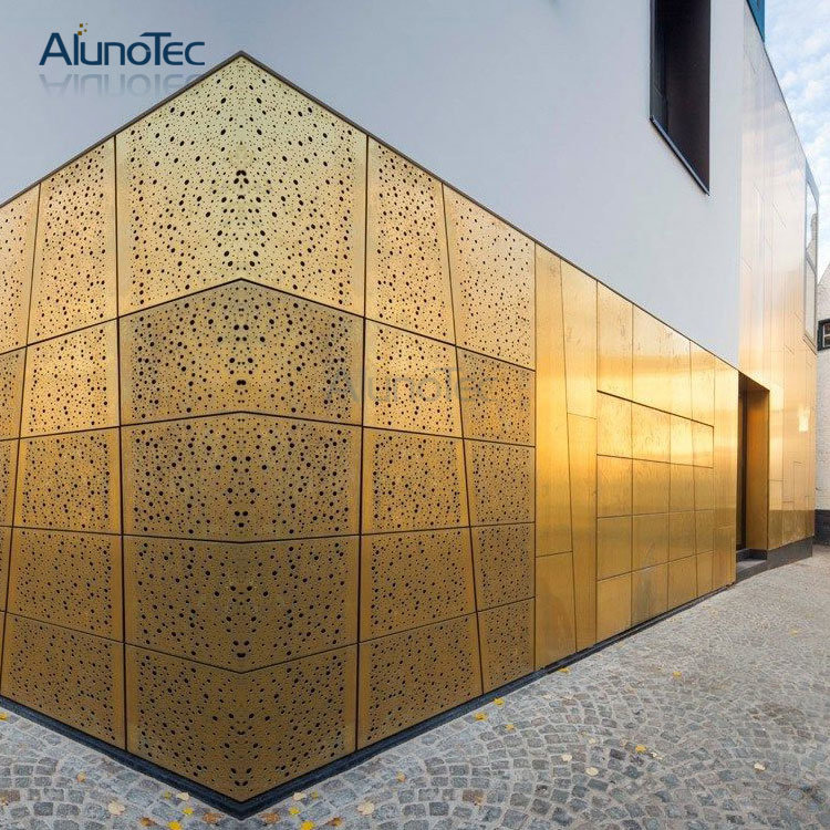 Perforated Metal Cover Aluminum Facade Panel For Exterior