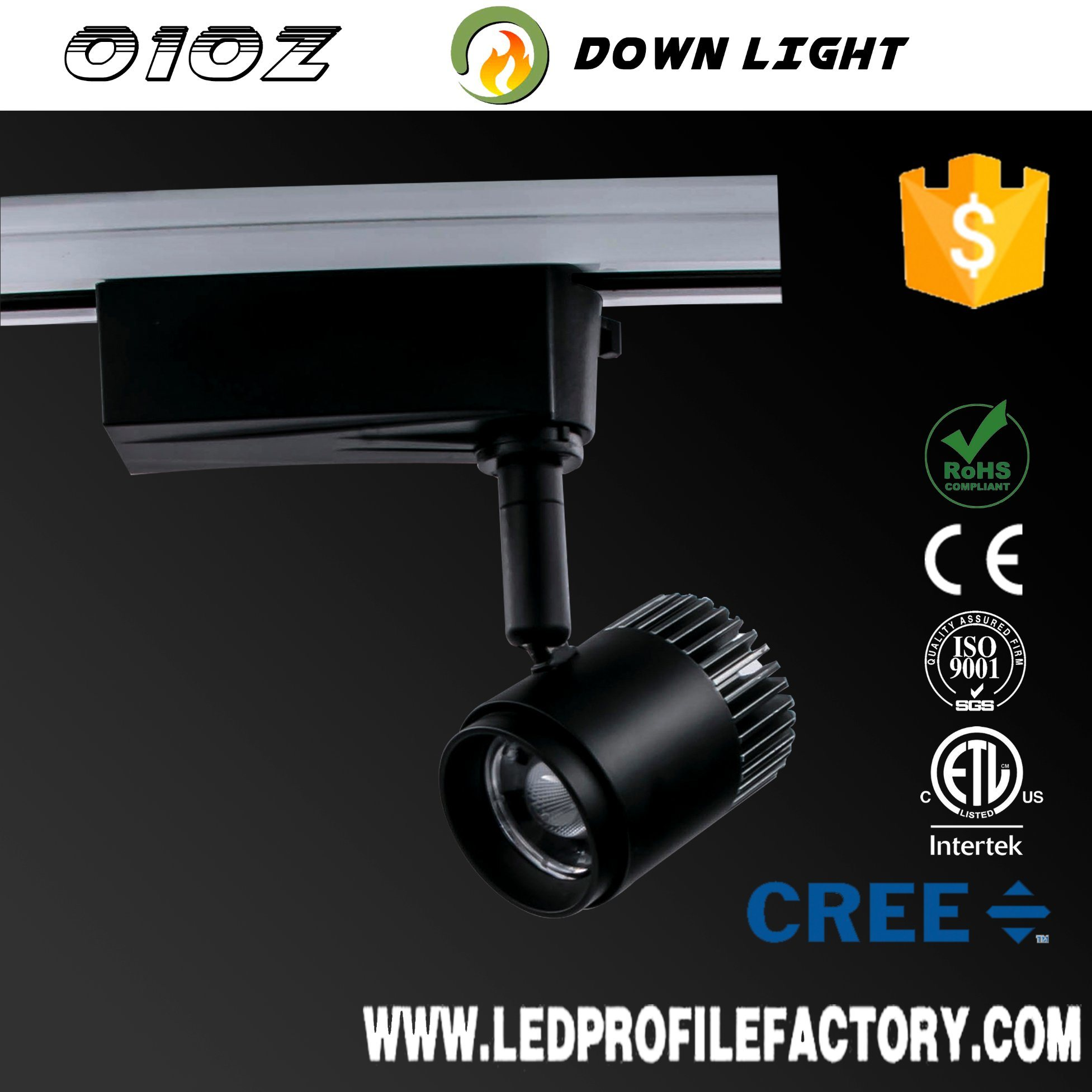 Hot item hanging track light price led spotlight kitchen adjustable track spot lighting led