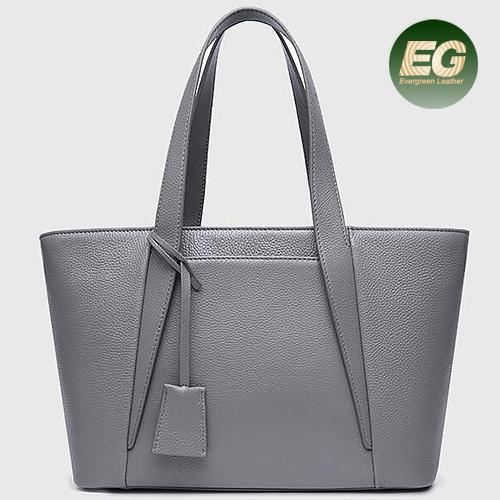 China Whole Factory Price Handbag Fashion Simple Leather Handbags Emg5334