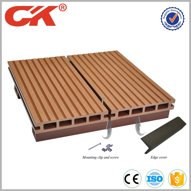 Various Size Antisepsis Wpc Decking From China Wood Plastic Composite Flooring Board Outdoor