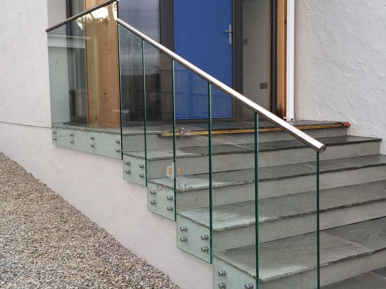China Outdoor Stair Railing Frameless Glass Balustrade with ...