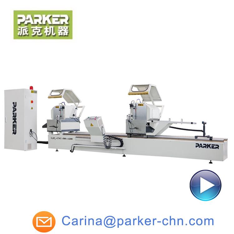 China Parker CNC Double Head Cutting Saw for Aluminium PVC Profile ...
