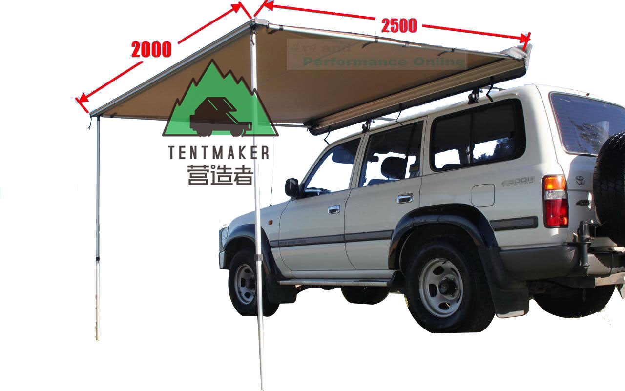 China 2017 New Style Canvas Car Awning Vehicle Side Tents For Picnic