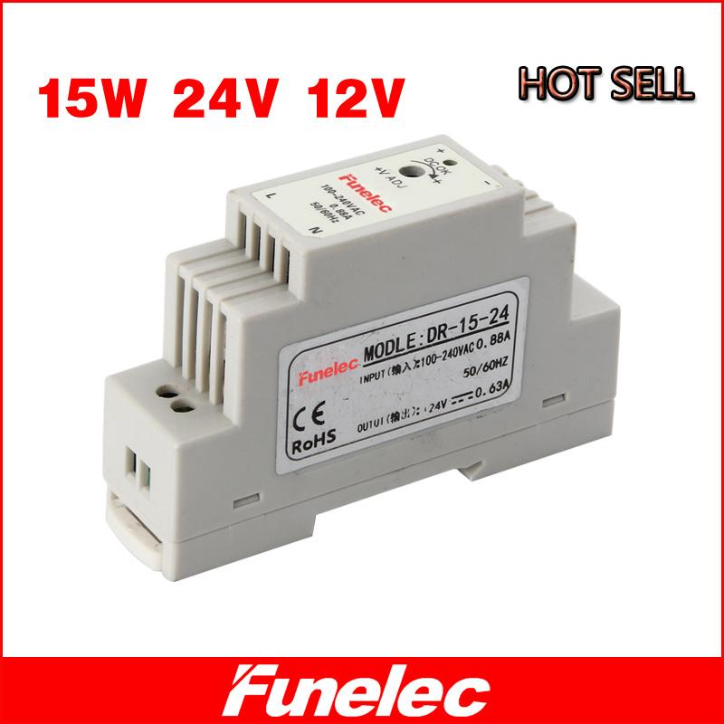 15W Single Output 24V Industrial DIN Rail Power Supply DR-15-24V