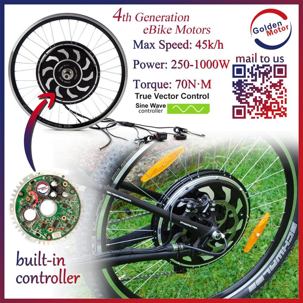 China 250w 500w 1000w Golden Motor Magic Pie4 5 E Bike Hub Motor Electric Bicycle Motor Kit China Ebike Kit Electric Bicycle
