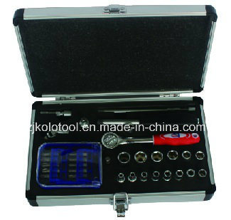 c3d3597eb3d China 34PC Professional Car Repair Aluminium Hand Tool Box - China ...