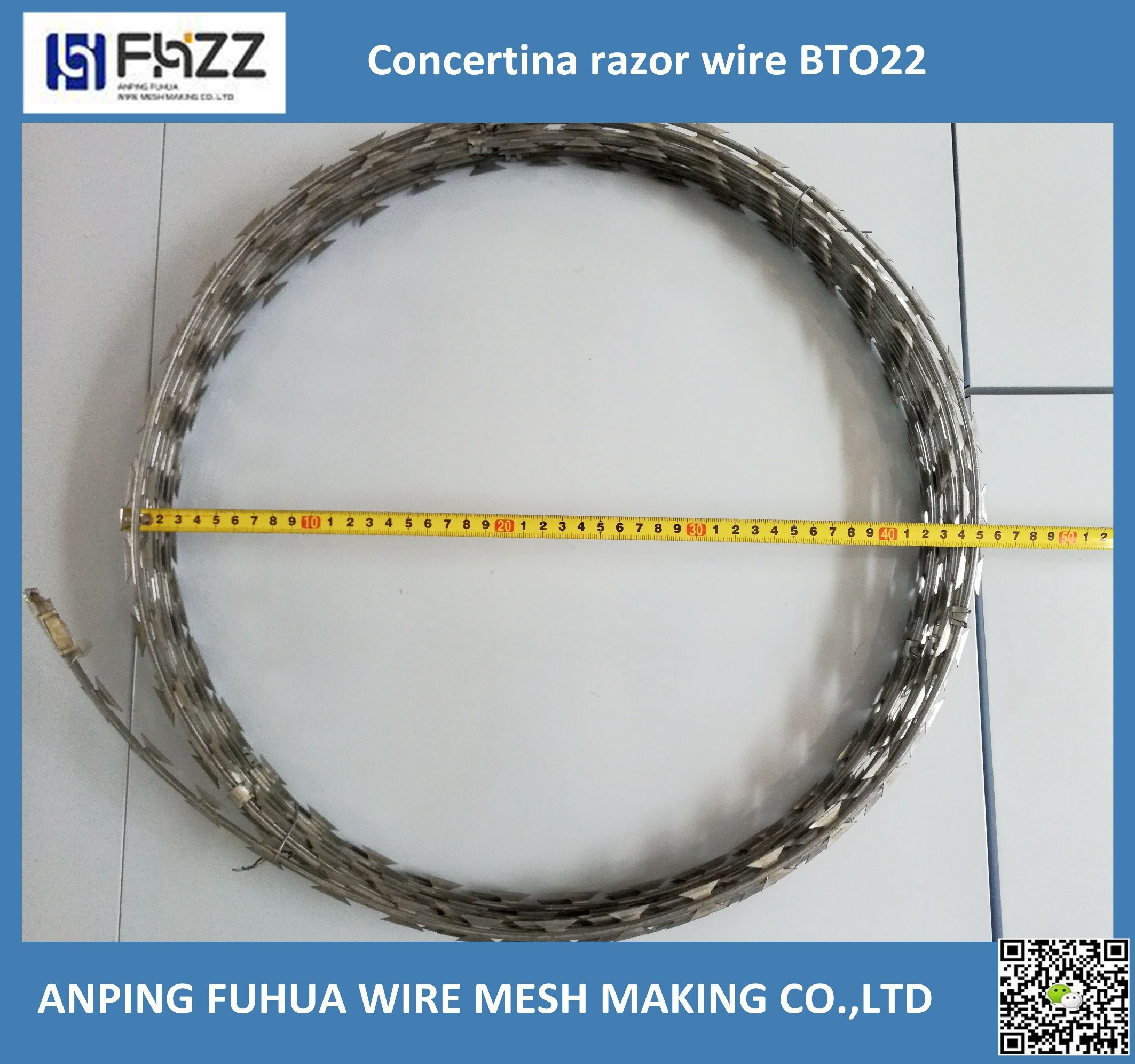 China Bto 22, Cbt 65 Protection Galvanized Razor Babed Wire Fence ...