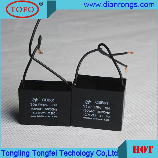 China Fan Motor 300vac Ceiling Fan 5 Wire Cbb61 Capacitor
