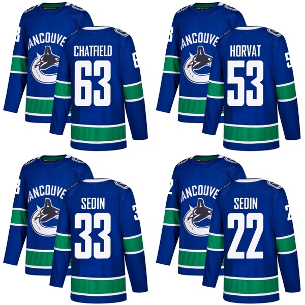 promo code 33908 a9d14 [Hot Item] Vancouver Canucks Daniel Sedin Bo Horvat Henrik Sedin Hockey  Jerseys