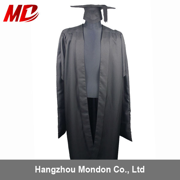 China UK Deluxe Fluted Back Master Graduation Gown and Cap - China ...