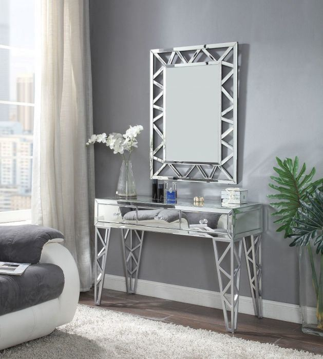 China Home Mirrored Furniture Modern Console Table With Wall Mirror