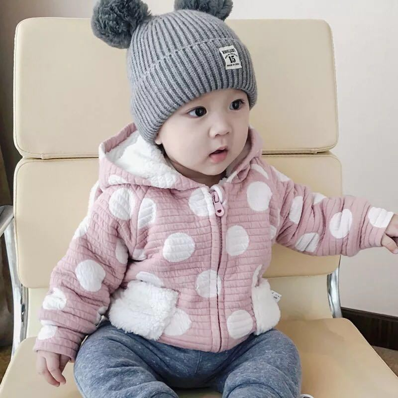 Baby Hat Autumn Winter 1-3-6-Year-Old South Korean Male and Female  Children′s Knitted Ear Cap Baby Warm Hair Hat 3ba454c6211