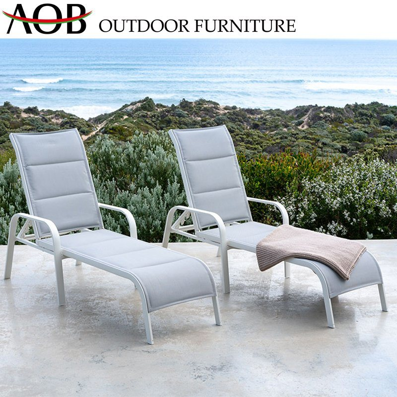 [Hot Item] Chinese Modern Outdoor Garden Hotel Home Patio Furniture Lounge Chair Aluminium Daybed Reclining Chair Sunbed