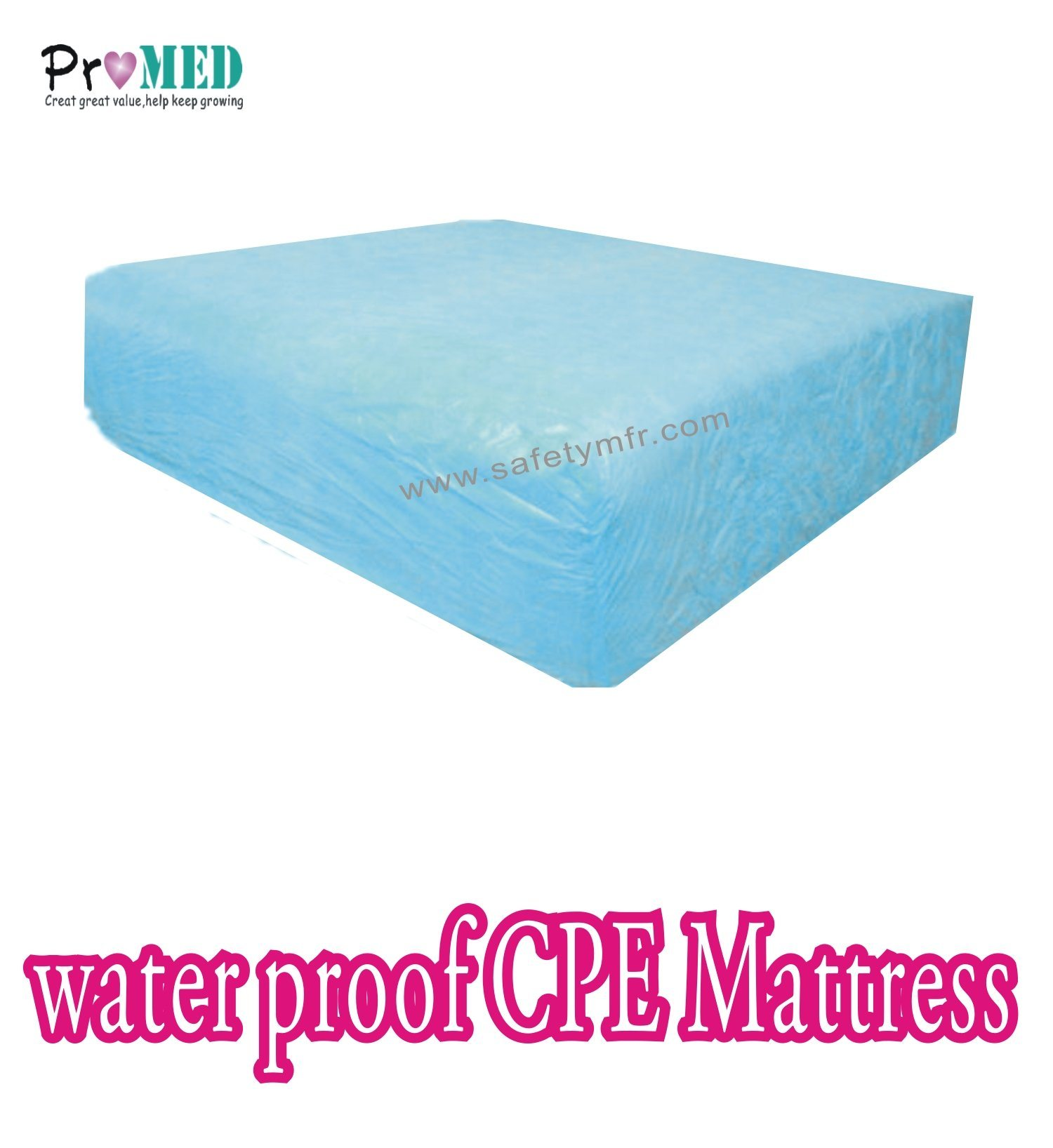 Water Proof Cpe Pe Disposable Mattress
