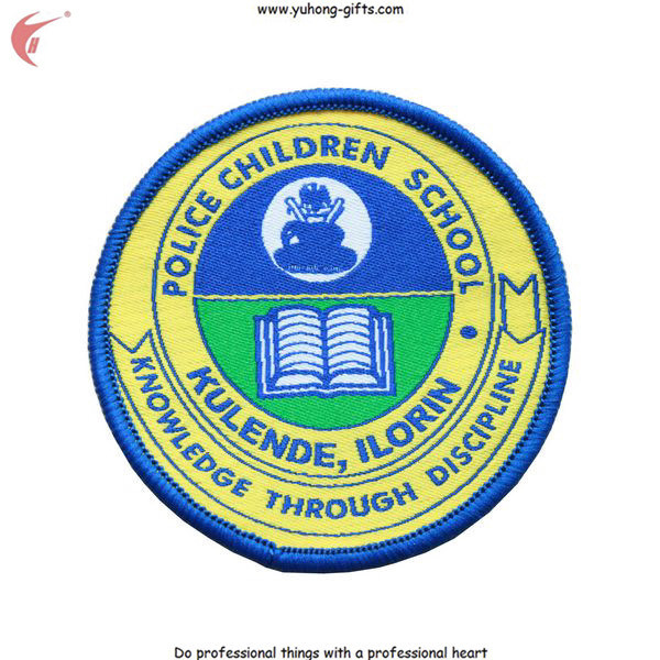 School Uniform Embroidered Badge Back with Magic Tape or Iron-on (YH-WB031) pictures & photos
