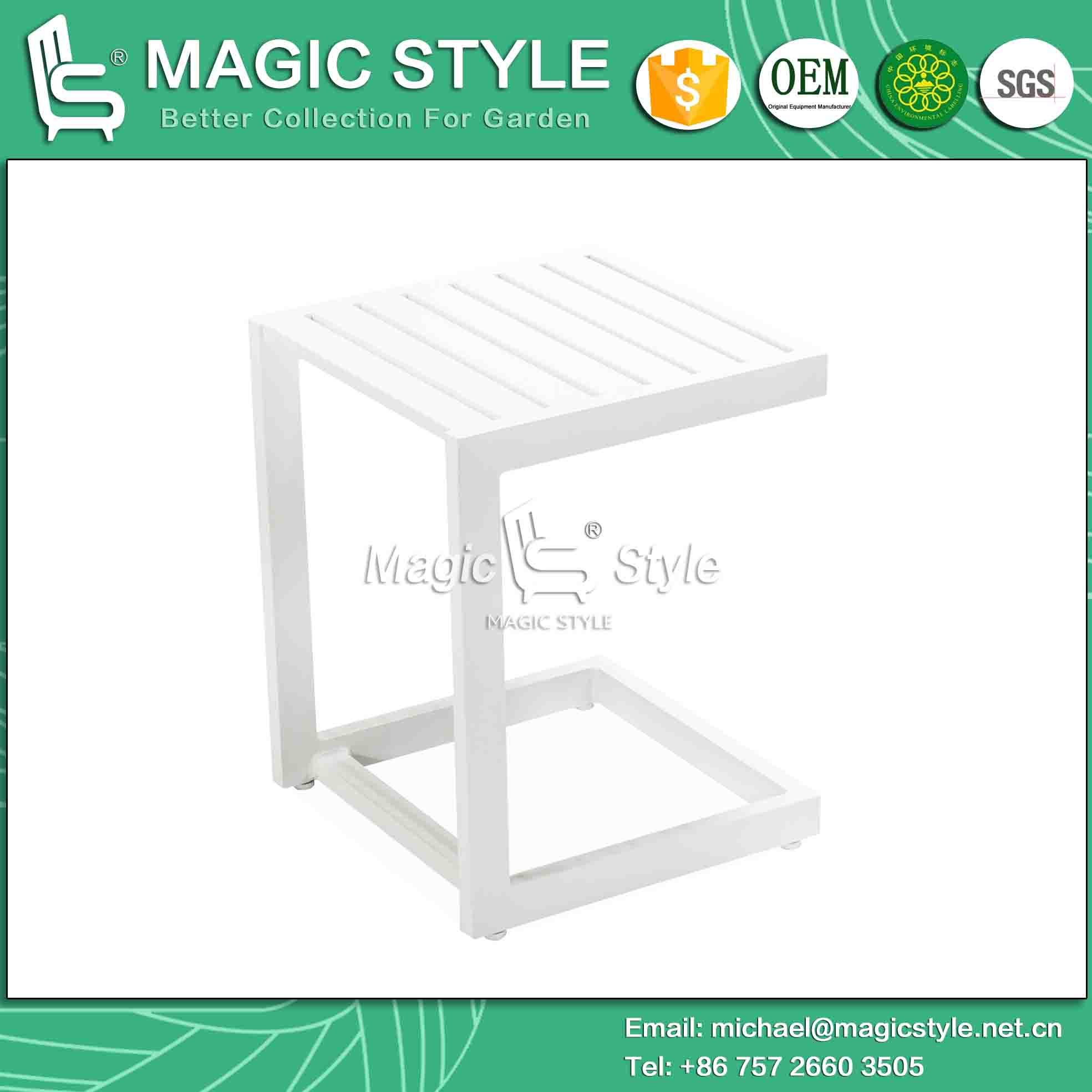Outdoor Aluminum Side Table Garden Coffee Table Aluminum Coffee Table Square Tea Table Modern Side Table