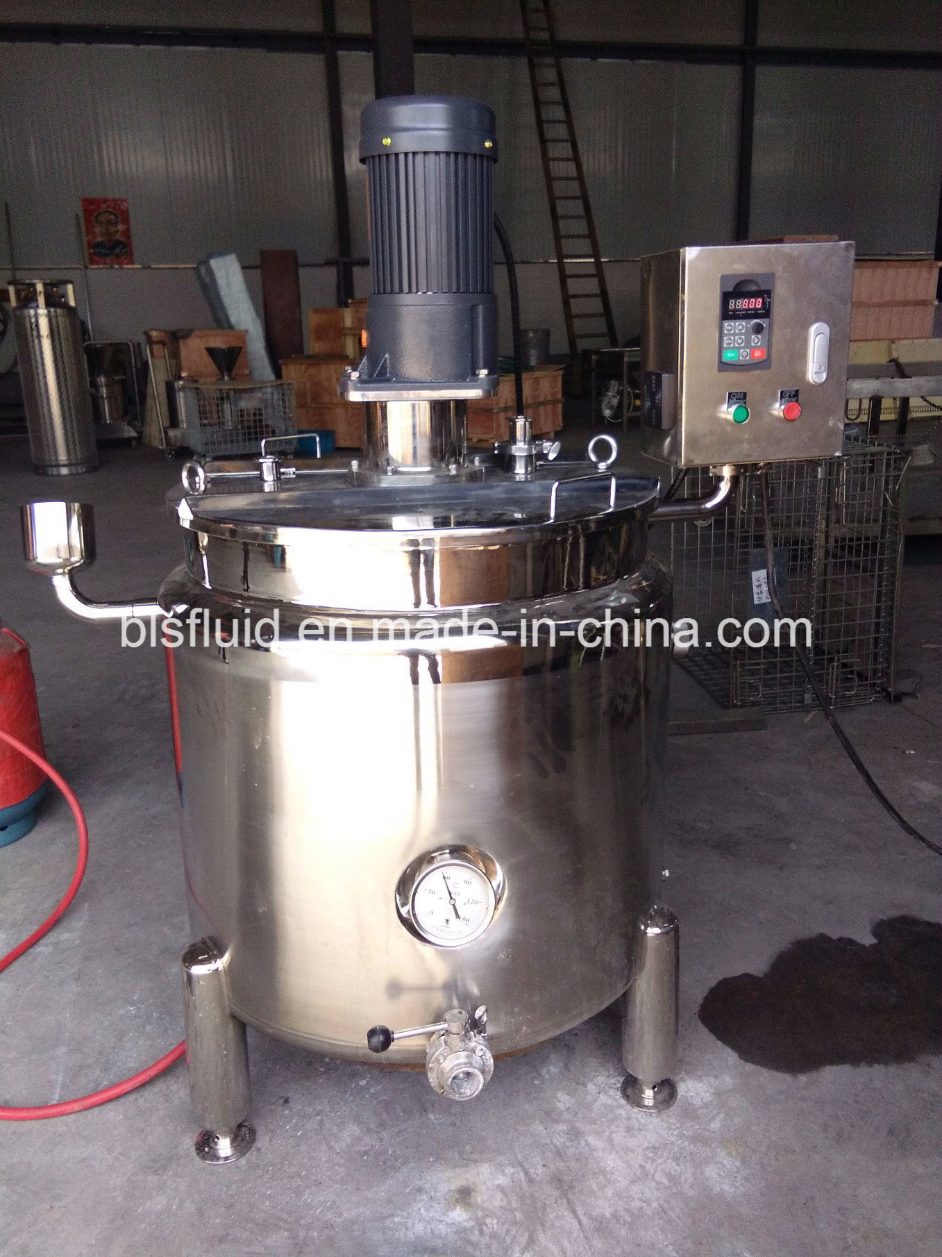 Industrial Stainless Steel 200L LPG Double Jacket Mixer Milk Boiler pictures & photos