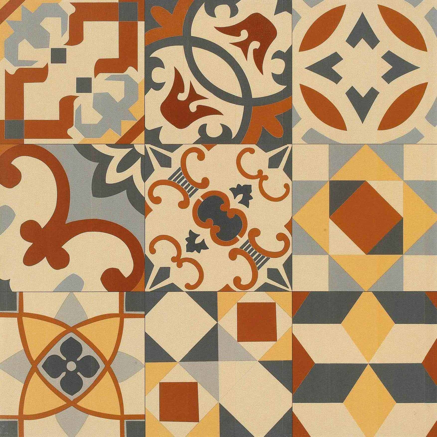 Fancy Spanish Decorative Wall Tiles Sketch - The Wall Art ...