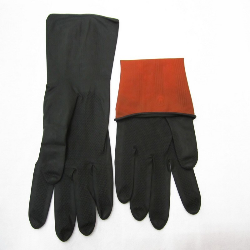 Industrial Rubber Heavy Duty Work Safety Gloves, Latex Glove. pictures & photos