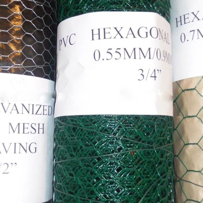 [Hot Item] PVC-Coated Hexagonal Wire Netting 3/8′′ to 2′′ Used for Fencing