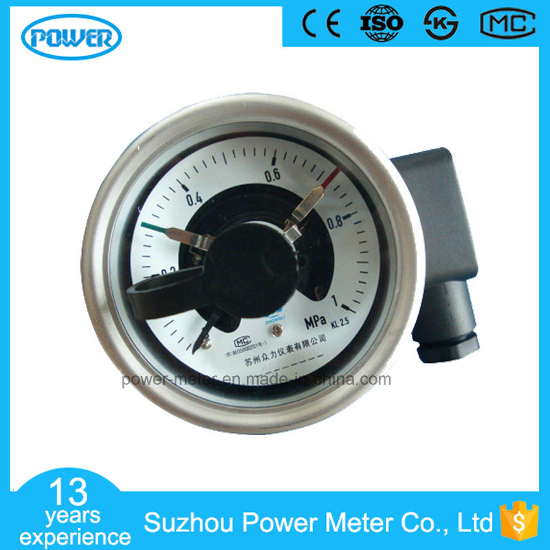 China 2.5 Inch Electric Contact Pressure Gauge MPa 1 Back Connection ...