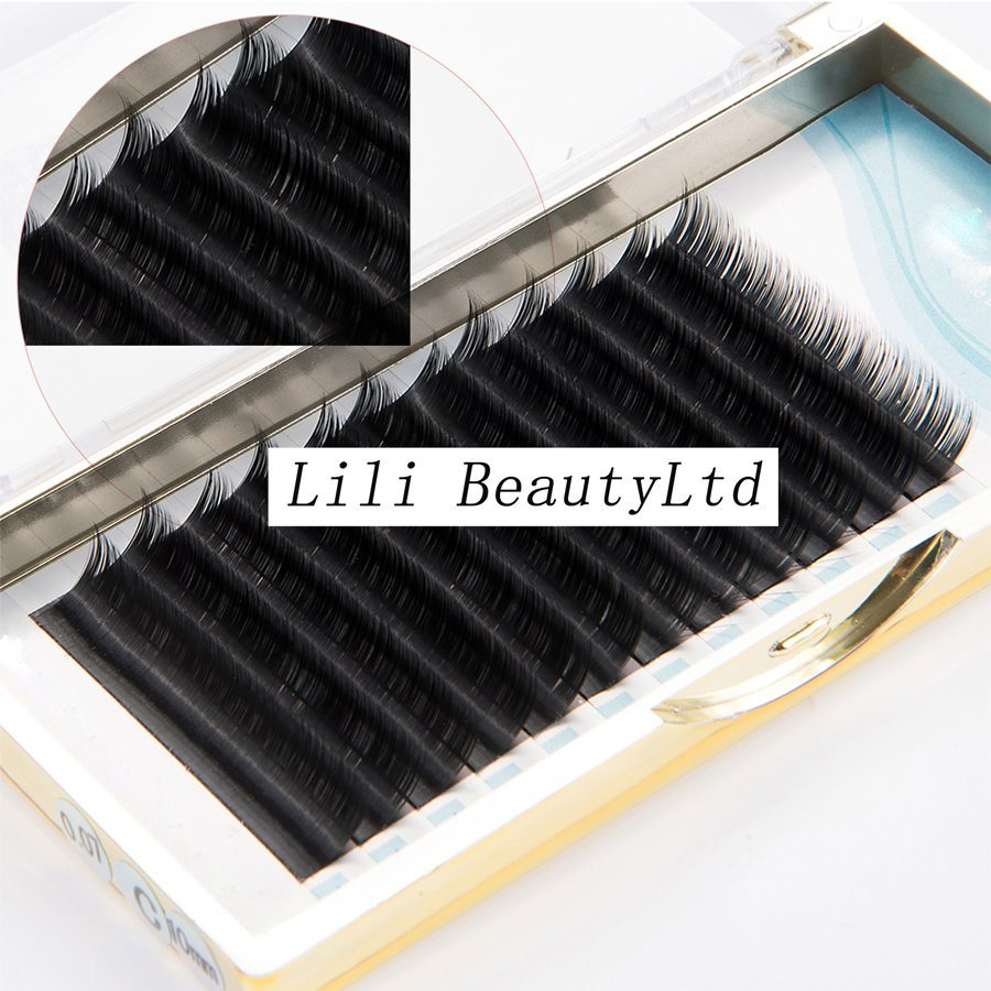 China 2017 New Very Soft Own Brand Ellipse Flat Eyelash Extension