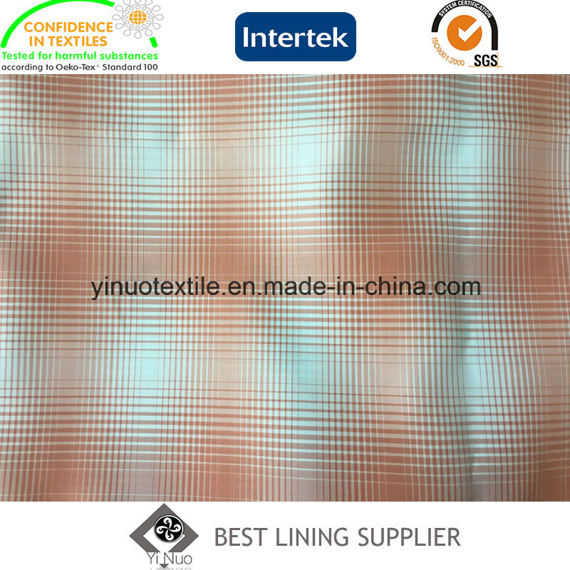 100% Polyester Two Tones Check/Plaid Lining Factory